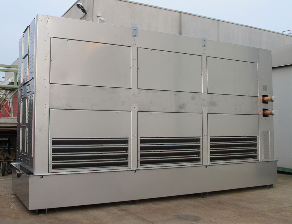 New air cooler with integrated adiabatic cooling